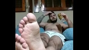 Sexy Rugby Player Shows Off His Feet And Relaxes At Home