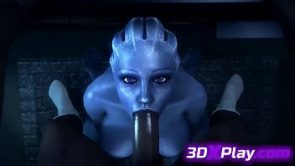 Mass Effect Liara Blowjob Sucking Big Dick Animated POV