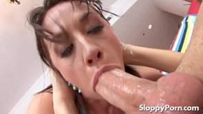 Chanel Preston sloppy blowjob