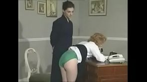 British schoolgirl Kerry spanked again