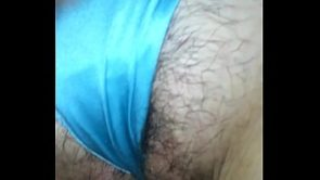 MATURE GREEK / AUSSIE WIFE EKATERINI – PUFFY PUSSY WITH BLUE SATIN G-STRING
