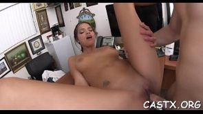 Sex-starved babe Carrie Brooks and agile stud