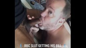 BBC addict stuffing himself with superior black cock!