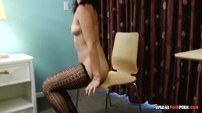 Asian in pantyhose adores being a tease