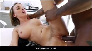 Petite Big Tits Blonde Cheating MILF Pristine Edge Fucked By Big Black Cock During Job Interview