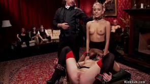 High end slaves anal fucking at party
