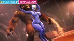 Warcraft Draenei x Tauren Hard Fucked Big Dick Animation HMV