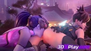 OVERWATCH – TRACER X WIDOWMAKER PORN LICKING CARTOON 2019