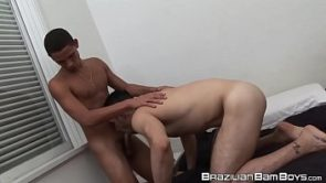 Jock from Brazil pounds his partner after receiving blowjob