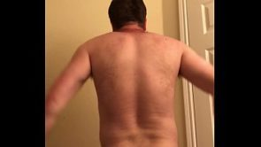 dude in total agony after spanking himself with a spoon and hair brush (good images of a male face when he is in excruciating pain and also a lot of painful moans)