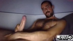 Handsome man with huge nice delicious cock
