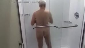 Granny likes the shower
