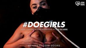 DOEGIRLS – Solo Bondage Pussy Play With A Masked Teenager – Anastasia Brokelyn