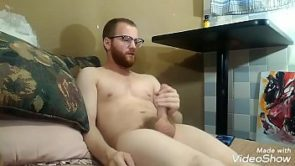 Daddy goon sniffs Poppers and jerks off to porn.
