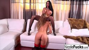 Hot White Couch lesbian fun with Nicole Aniston &amp_ Amy Anderssen!