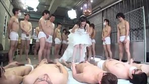 japanese bride gangbang with 100 men (Full Part)