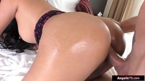 Small tits asian tgirl Amy Amour analed