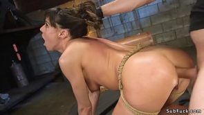 Brutal master anal fucks bound beauty