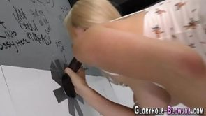 Blonde babe riding and sucking bbc