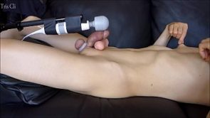Japanese guy&#039_s shaved penis masturbation! I masturbated with a replica of my penis! When I ejaculated my semen flew to my chest! Please watch my cumshot! Listen my moaning!