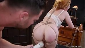 Principal and guy fuck bound stepsister