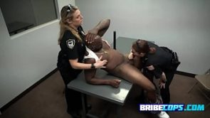 Hardcore interview with a BBC stud and two horny big booty MILF.