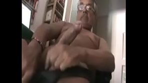 Daddy jerks his cock