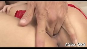 Hinata Komine with large tits &#039_s vagina stretched wide